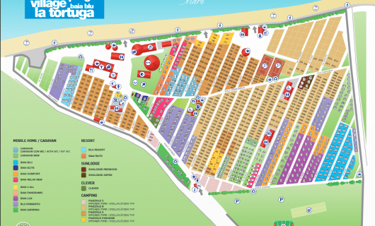 plattegrond Baia Blu la Tortuga
