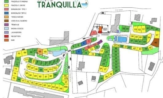 Plattegrond Camping Tranquilla