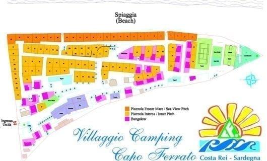 Plattegrond Camping Village Capo Ferrato