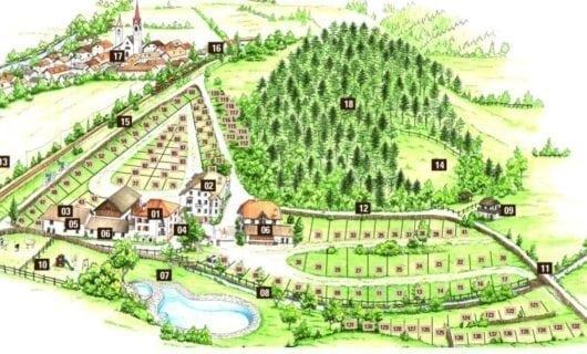 plattegrond Campeggio Wildberg