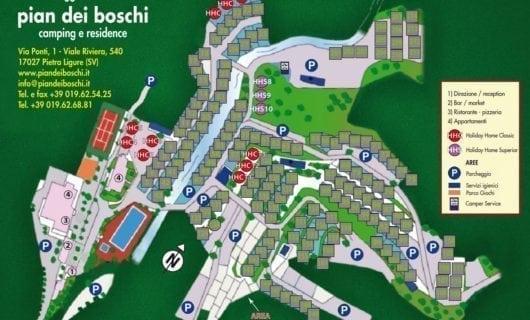 Plattegrond Camping Pian dei Boschi