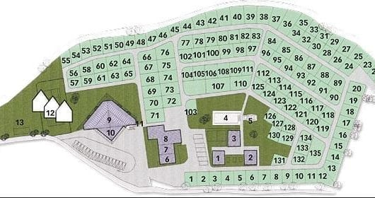 plattegrond Camping Residence Corones