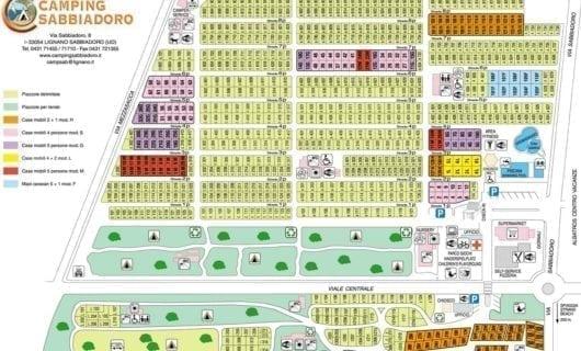 Plattegrond Camping Sabbiadoro