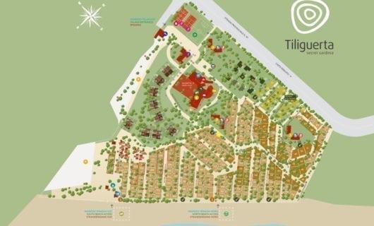Plattegrond Camping Village Tiliguerta