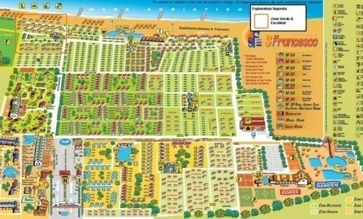 plattegrond San Francesco Duna Verde