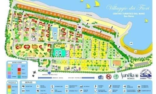 Plattegrond Villaggio Dei Fiori